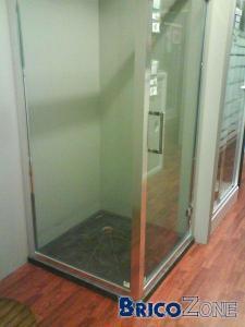 Bac de douche plat sur plancher