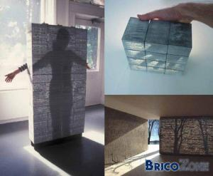 Demi-mur transparent