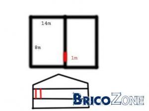calcul linteau ouverture 1m mur porteur