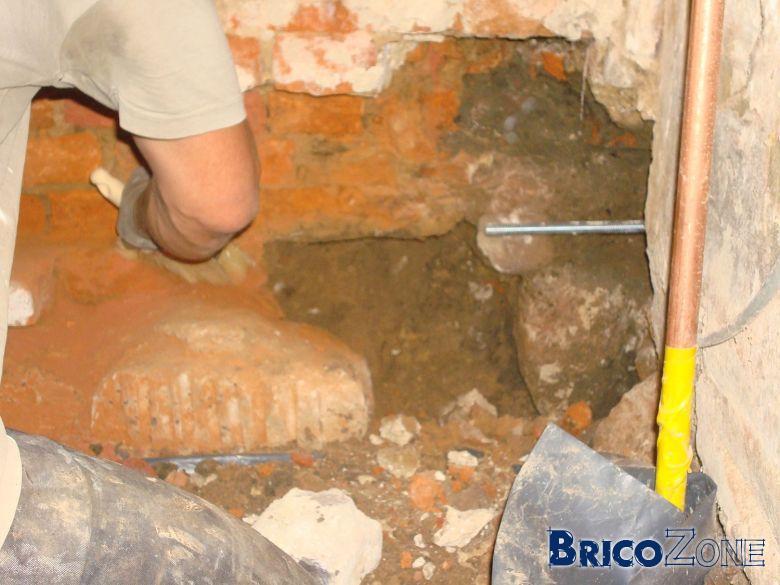 couler un linteau et poutre de cintrage en b�ton CEM II/B-M 32,5 N ou CEM I 52,5 N