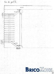 escalier avec 2 paliers