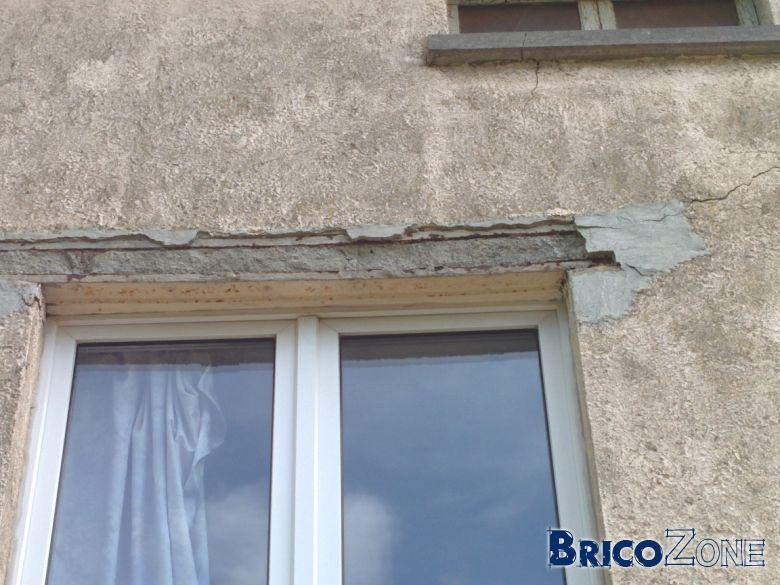 Vos avis sur linteau affaiss sur fen tre for Fissure appui de fenetre