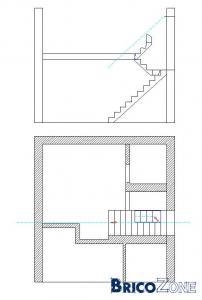 Escaliers - très petit espace