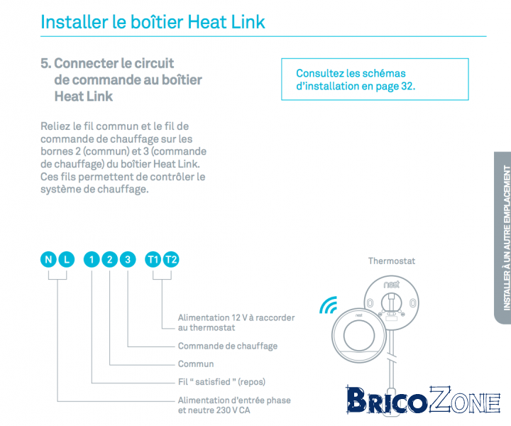Branchement thermostat Nest sur Vaillant Ecotec