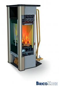 poelle à bois chaudiere pour coupler au chauffage central