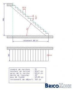 Escalier perilleux - Dimension escalier droit ...