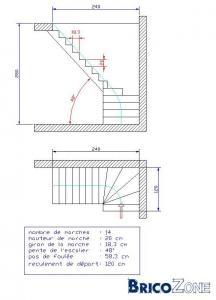 Schema escalier quart tournant graffiti graffiti car interior design - Echelle pour escalier tournant ...