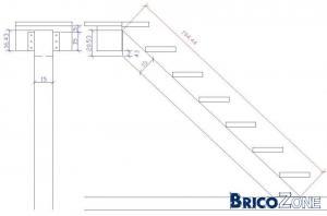Escalier Droit Avec Poutre Centrale