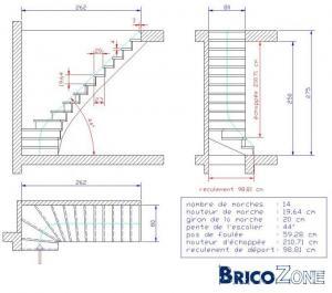 Plans escalier quart tournant: est-ce r�alisable ?