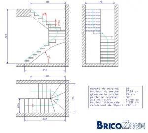 Construction d'un escalier intérieur en béton