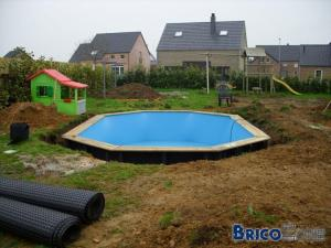 Piscine bois enterrable en kit sunbay for Piscine bois enterrable rectangulaire