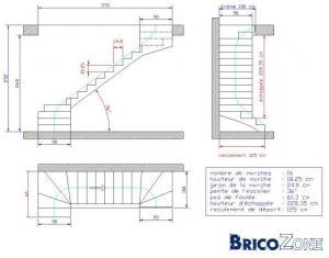 mesure escalier trémie