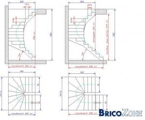 demande d aide pour escalier double quart tournan. Black Bedroom Furniture Sets. Home Design Ideas
