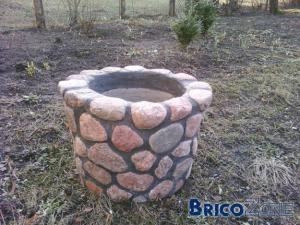 Couler du béton pour faire un pot de fleurs ?