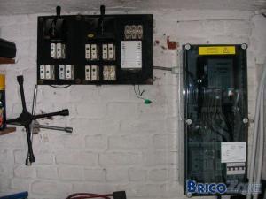 Section câbles entre compteur et coffret