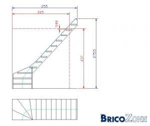 """escalier secondaire - possibilité à partir d'un escalier """"standard"""" ?"""