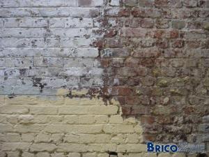 Nettoyage vieux murs ext rieurs en briques - Peindre cheminee brique rouge ...