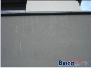 Coulées sur crépis silicone extérieurs