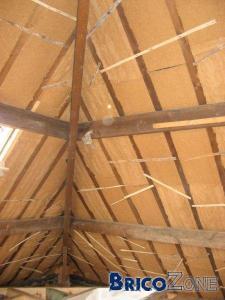 fixation isolant sous toiture. Black Bedroom Furniture Sets. Home Design Ideas