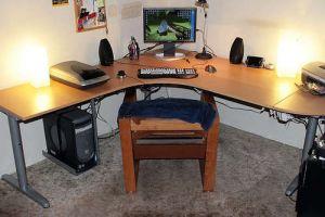 planche de bureau sur mesure. Black Bedroom Furniture Sets. Home Design Ideas