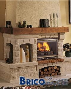foyer de bois tablette de bois massif. Black Bedroom Furniture Sets. Home Design Ideas