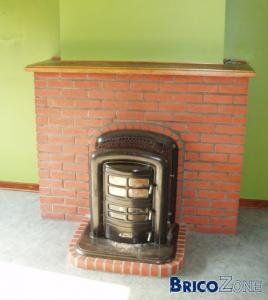 Transformation po le bois en feu ouvert - Transformer une cheminee en poele ...