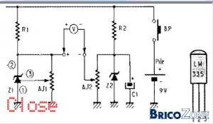montage conversion température en tension