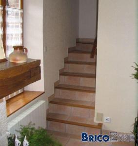 Escalier bois beton