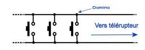 brancher 3 boutons poussoirs sur un telerupteur