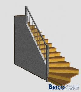 Escalier 2 quarts tournant gauche