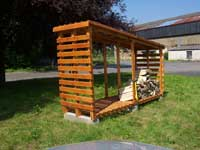 Plan abris pour bois de chauffage - Construire abri bois de chauffage ...