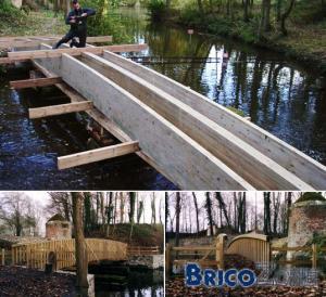 Construire un pont pour traverser un ruisseau...