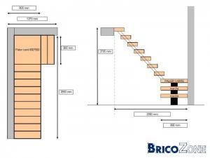aide pour effectuer plan escalier 1 4 tournant avec plateau. Black Bedroom Furniture Sets. Home Design Ideas
