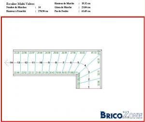 aide pour effectuer plan escalier 1/4 tournant avec plateau