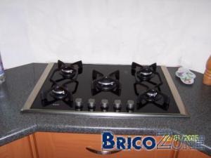 table de cuisson � gaz verre vitroc�ramique