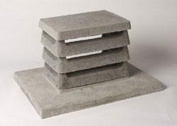 Chapeau cheminée béton