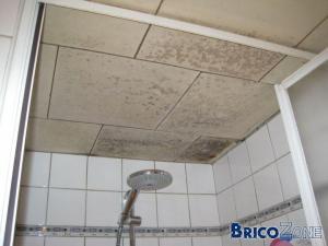 Aide pour faux plafond dans une S.D.B.