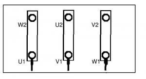 Moteur triphas�, comment rep�rer les bobinages?