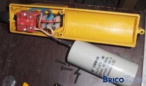 Arret automatique pour un monte charge (bois de chauffage)