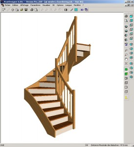 logiciel escalier avec 3d gratuit disponible ici. Black Bedroom Furniture Sets. Home Design Ideas