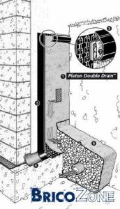 cimentage tanch it murs contre terre. Black Bedroom Furniture Sets. Home Design Ideas