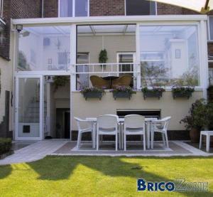 construction de veranda sur 2 tages. Black Bedroom Furniture Sets. Home Design Ideas