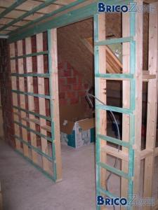 Quelle section de bois pour des cloisons for Cloison interieure bois