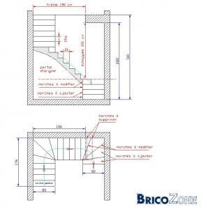 Demande de conseil sur escalier 1 4 tournant milieu - Calcul escalier 1 4 tournant ...