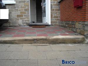 easy joint de knauf sur dalles de béton rouge/gris