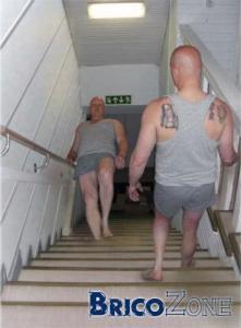 Escalier en b�ton coul�... dans le mauvais sens