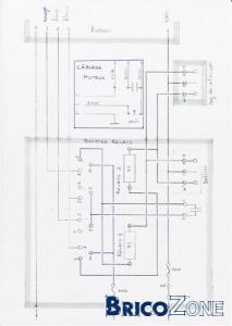 Schéma électrique d'un monte-charge