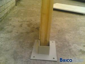 Cloture en panneau de bois - Poteau beton 12x12 ...