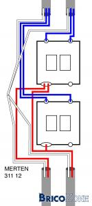 Doubles interrupteurs - raccordement