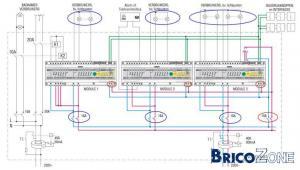 Comment faire pour raccorder disjoncteur - module domotique - prises